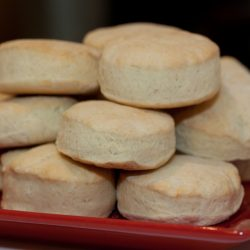 Biscuits stacked on a plate