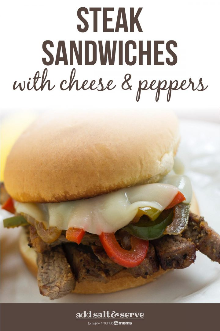 Steak Sandwiches with Cheese and Peppers