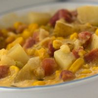 Crockpot Cheesy Ham and Corn Chowder