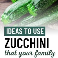 fresh zucchini with text Ideas to use zucchini that your family will love