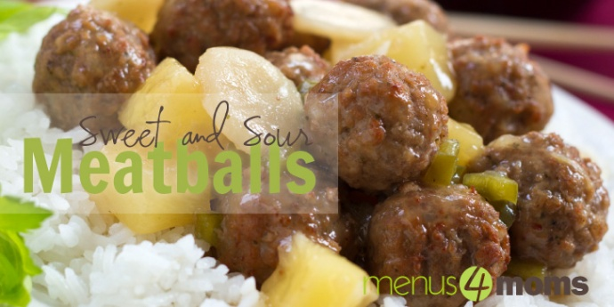 Sweet and Sour Meatballs with Rice Recipe