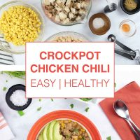 Crockpot Chicken Chili (easy & healthy) - add salt & serve