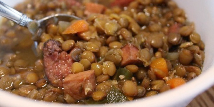 Lentil Soup with Kielbasa