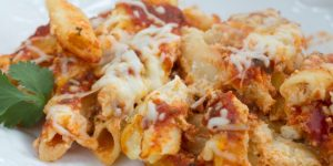 Easy Baked Ziti on a plate