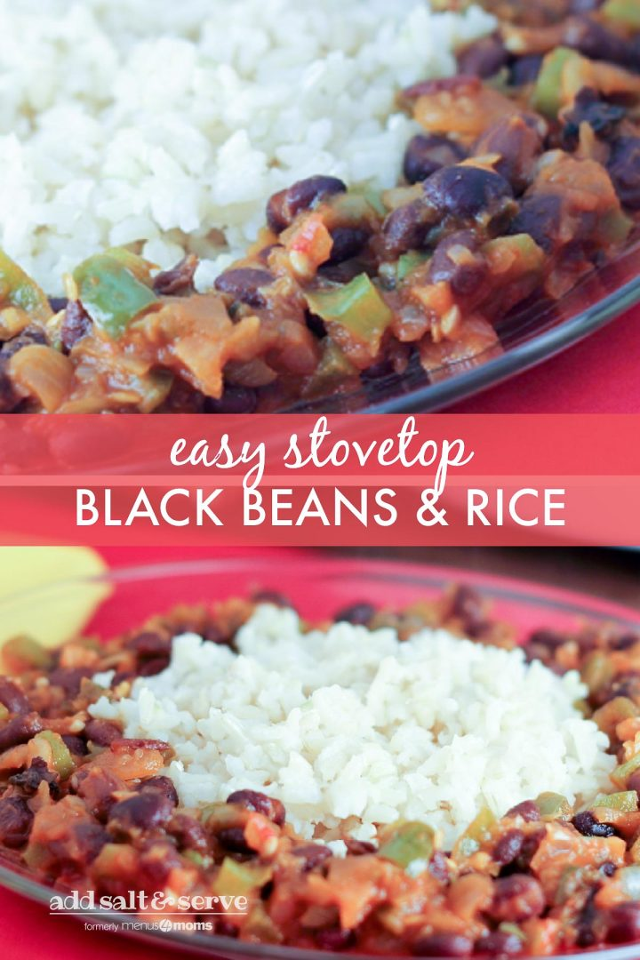 Quick & Easy Black Beans and Rice