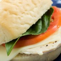Turkey Caprese Sandwiches