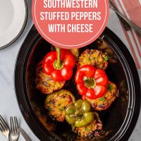 Southwestern Stuffed Peppers with Cheese