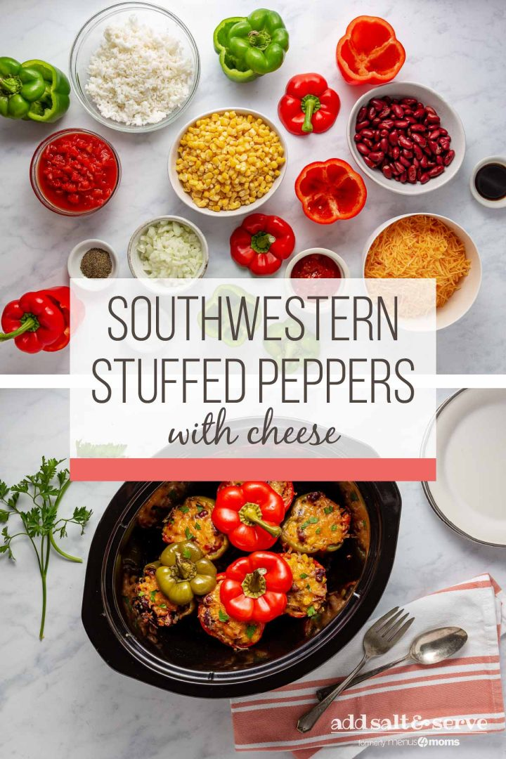 Easy Southwestern Stuffed Peppers with Cheese