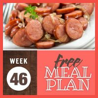 Meal Plan for Week 46 2019: November 11-15
