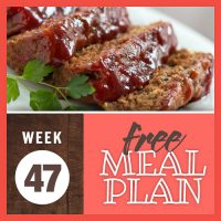 Meal Plan for Week 47 2019: November 18-22