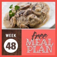 Meal Plan for Week 48 2019: November 25-29