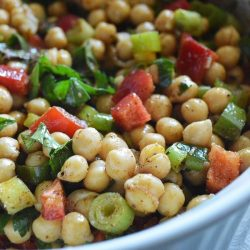 A bowl of Chickpea Salad