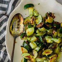 roasted garlic zucchini
