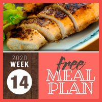 Meal Plan for Week 14 2020: March 30 - April 3
