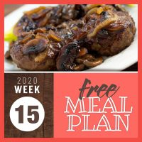 Meal Plan for Week 15 2020: April 6-10