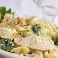 Chicken and Feta with Bow Tie Pasta