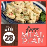 Meal Plan for Week 28 2020: July 6-10