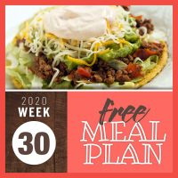 Meal Plan for Week 30 2020: July 20-24