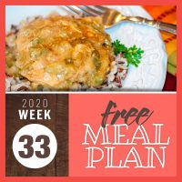 Meal Plan for Week 33 2020 - August 10-14