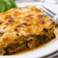 slice of baked zucchini lasagna