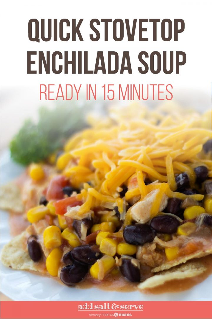 Chicken Enchilada Soup (15 Minute Meal)