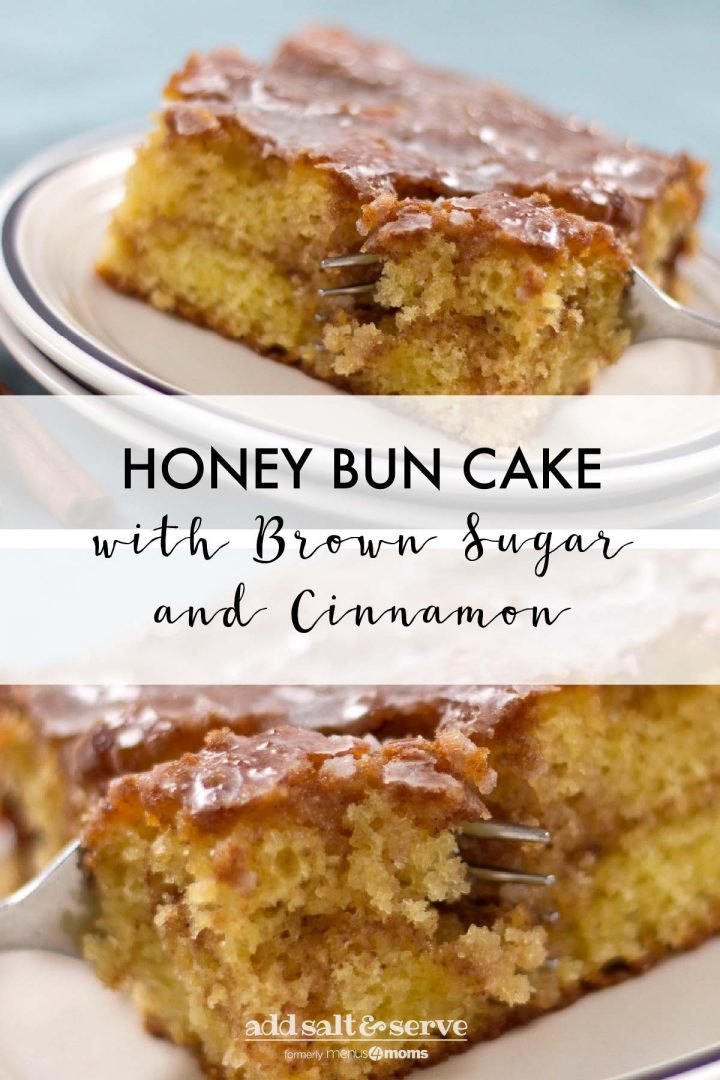 Honey Bun Cake with brown sugar and cinnamon