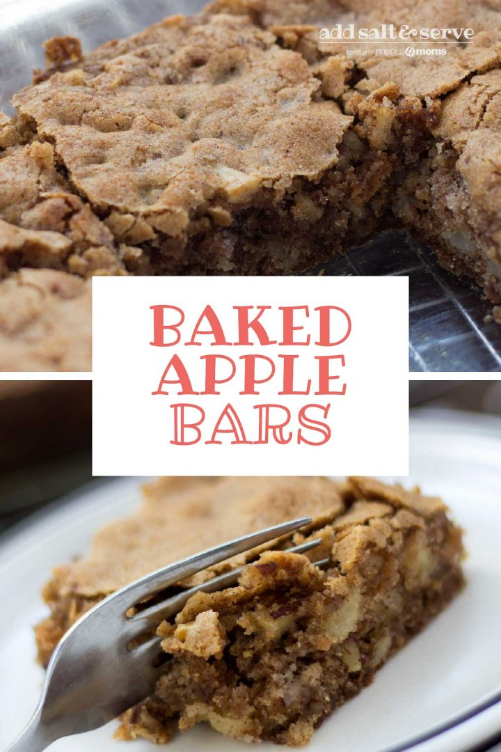 Baked Apple Bars with Walnuts and Cinnamon