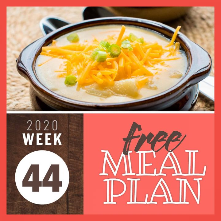 Meal Plan for Week 44 2020