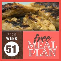 Honey Mustard Chicken with text Free meal Plan Week 51 2020