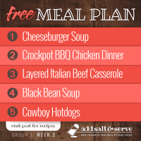 Meal Plan for Week 2 (Group 1)