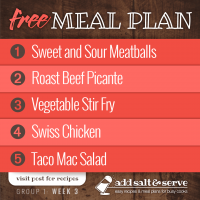 Meal Plan for Week 3 (Group 1)
