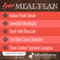 Meal Plan for Week 5 (Group 1)