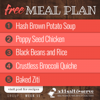 Meal Plan for Week 11 (Group 1)