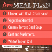 Meal Plan for Week 8 (Group 1)