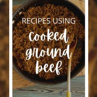 recipes using cooked ground beef
