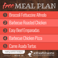 Meal Plan for Week 18 (Group 1)