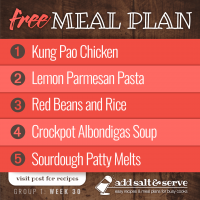 Meal Plan for Week 30 (Group 1)