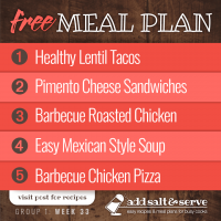 Meal Plan for Week 33 (Group 1)
