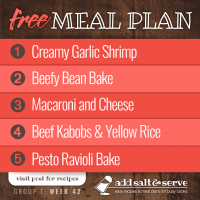 Meal Plan for Week 42 (Group 1)