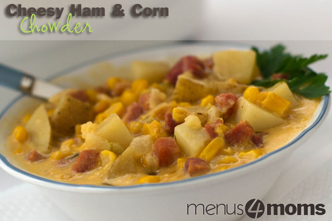 Crockpot Cheesy Ham and Corn Chowder Recipe