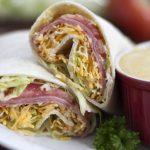 Ham and Cheese Wraps With Honey Mustard Sauce