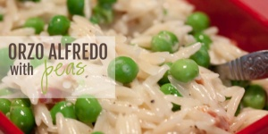 Orzo Alfredo with Peas Recipe