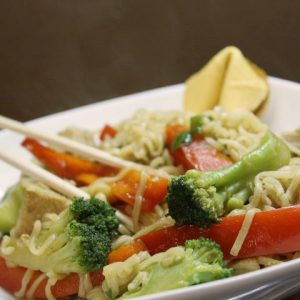 Menus4Moms: Quick Pork Lo Mein